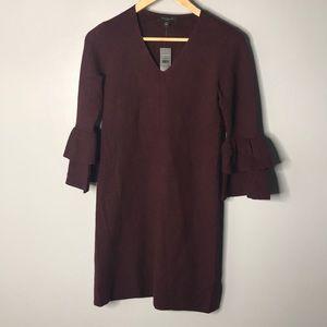 Ann Taylor Burgundy Sweater Dress NWT